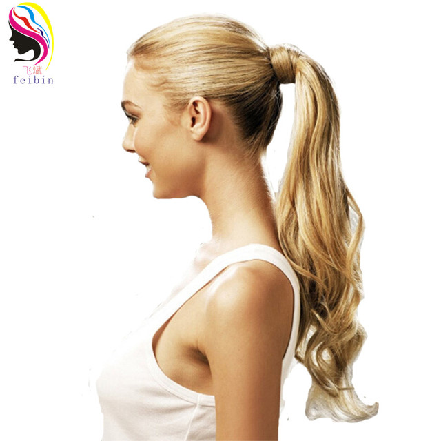 Feibin Synthetic Tie On Ponytail Hair Extensions For Women Tail