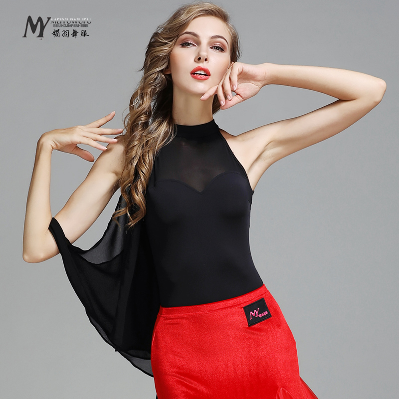 New Sale Woman Fashion Latin Dance Costume Ballroom Tango Rumba Chacha top dance competition wear MY779