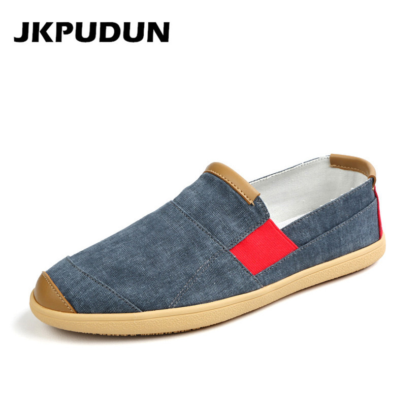 JKPUDUN Summer Men Casual Shoes Luxury Brand Penny Loafers