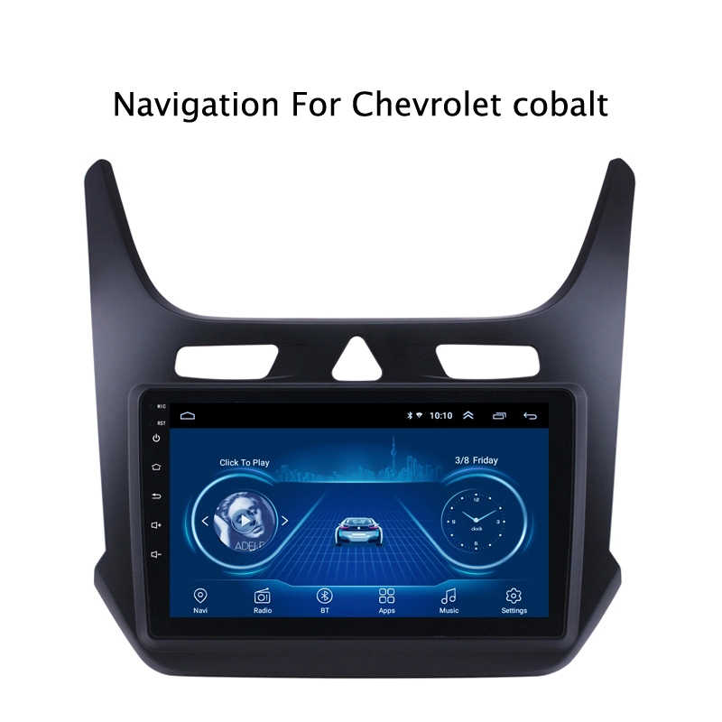 Super Slim Touch Screen Android 8.1 Radio GPS Navigasi untuk Chevrolet Cobalt 2016 Kepala Unit Tablet Stereo Multimedia Bluetooth