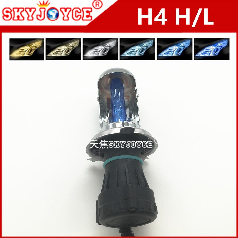 2х 35 Вт H4-3 H4 биксенон 4300К-12000К 3000k желтый на H4-3 би ксенон H4 Привет/Lo HID лампы автомобиля внешние фары H4H/Л глубокая синь 30000K