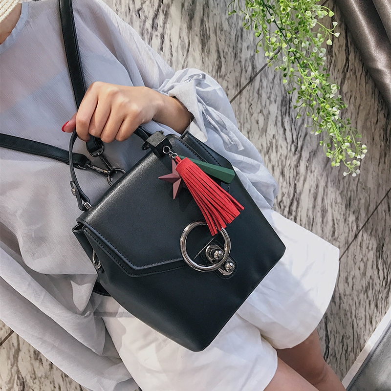 2018 new simple shoulder bag buckle multi-use package fashion hit color package female shoulder Messenger bag micocah women simple double color buckle buckle shoulder bag chain messenger bag gn40021