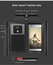 Dla SONY Xperia XA2/XA2 Ultra Case miłość MEI Shock Dirt wodoodporny metalowy pancerz pokrywa etui na telefony dla Sony Xperia XA2