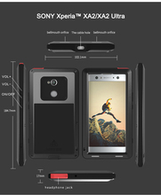 Pour SONY Xperia XA2/XA2 Ultra coque LOVE MEI résistant aux chocs et à la saleté coque de téléphone en métal résistant à leau pour Sony Xperia XA2