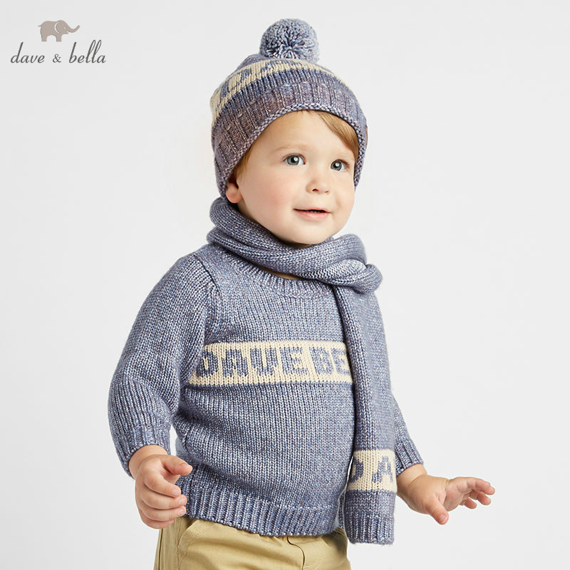 DBJ8303 dave bella autumn infant baby boys fashion top kids toddler pullover children boutique knitted sweaterDBJ8303 dave bella autumn infant baby boys fashion top kids toddler pullover children boutique knitted sweater