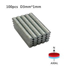 Dia 3mm x 1mm N50 Super Powerful Strong Rare Earth Ndfeb Magnet Magnetic Materials Round Ndfeb