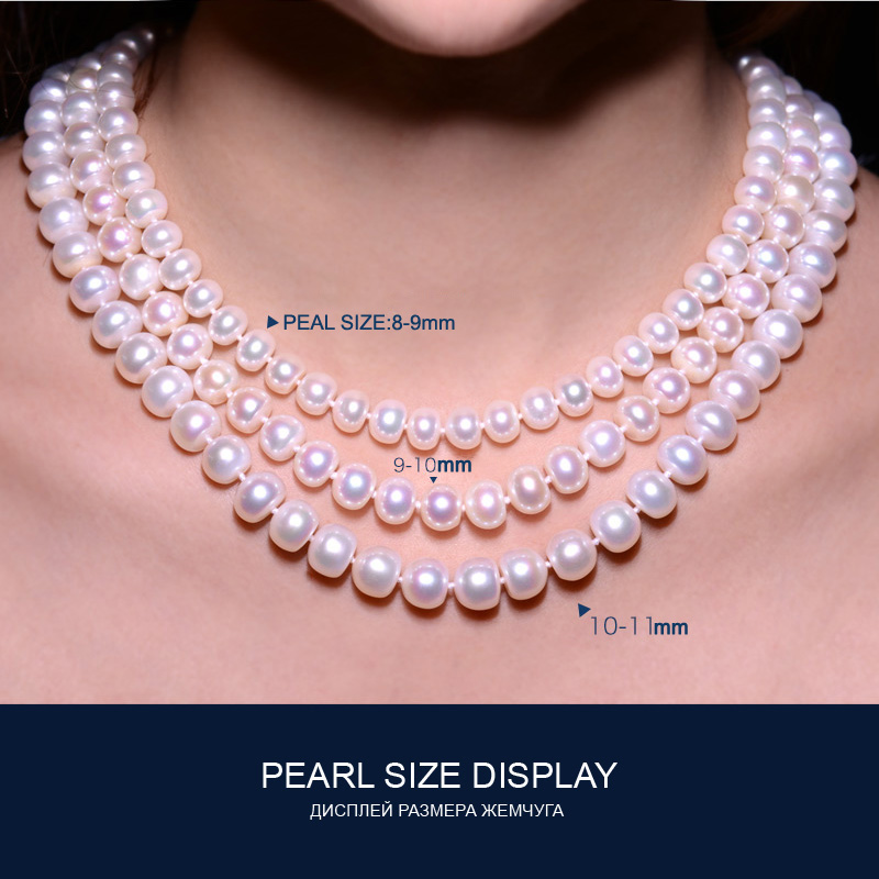 Image 5 - FENASY fine AAAA high quality natural freshwater pearl necklace for women 3 colors 8 9mm pearl jewelry 45cm choker necklace-in Necklaces from Jewelry & Accessories