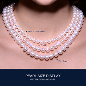 Image 5 - FENASY fine AAAA high quality natural freshwater pearl necklace for women 3 colors 8 9mm pearl jewelry 45cm choker necklace