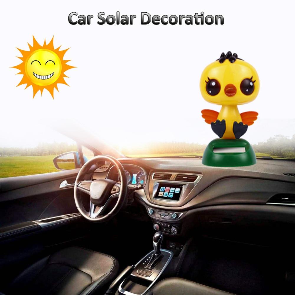 Zonne-energie Kleine Gele Eend Swingende Geanimeerde Danser Speelgoed Auto Decoratie Nieuwe Functie: