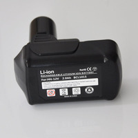 12V 10.8V Li ion rechargeable battery pack 2000mah replace for Hitachi cordless Electric drill screwdriver DB10DL FCR10DL WH10DC
