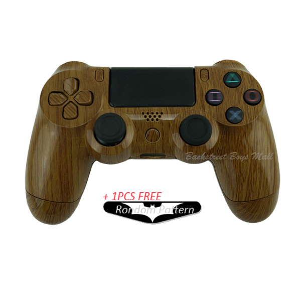 buy custom hydro dipped wood grain shell for sony play station 4 ps4 controller. Black Bedroom Furniture Sets. Home Design Ideas