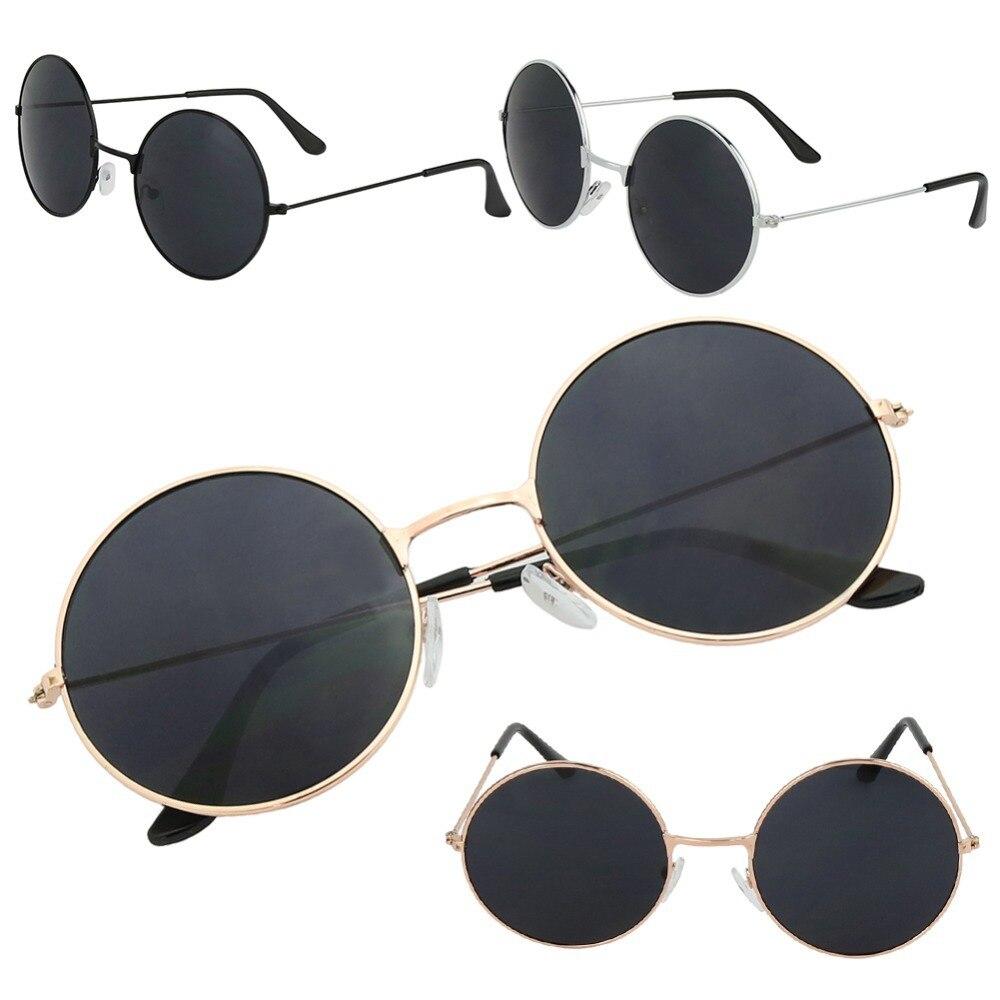 659243177c44d3 Click here to Buy Now!! Rétro Vintage Femmes Hommes Miroir Rond Lunettes de Soleil  Marque Designer ...
