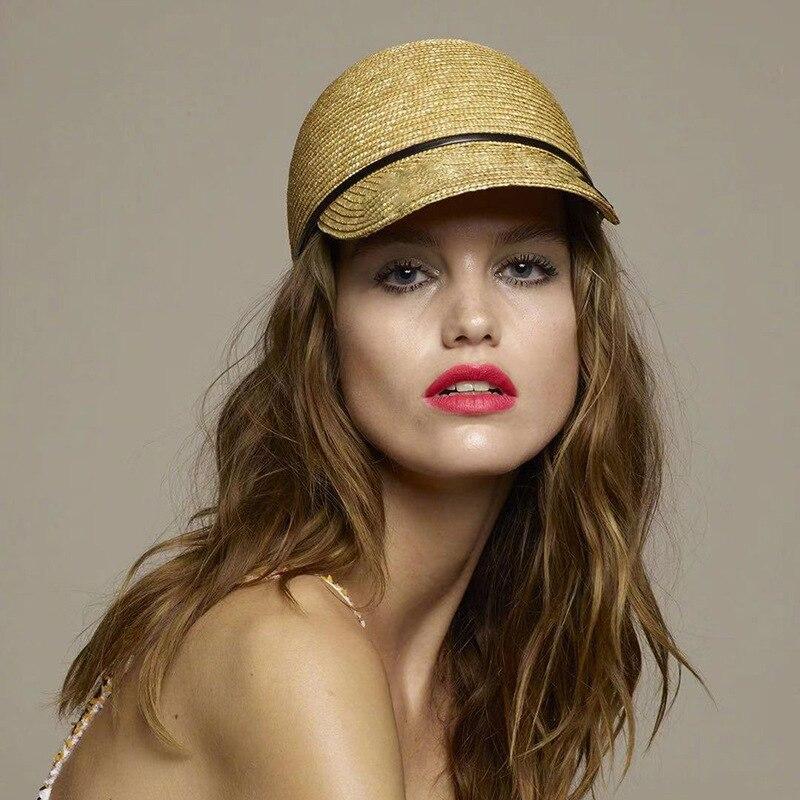 2019 Neue Marke Zeigen Natürliche Stroh Baseball Caps Für Frauen Hohe Qualität Damen Frühling Sommer Visier Sonne Hüte Großhandel