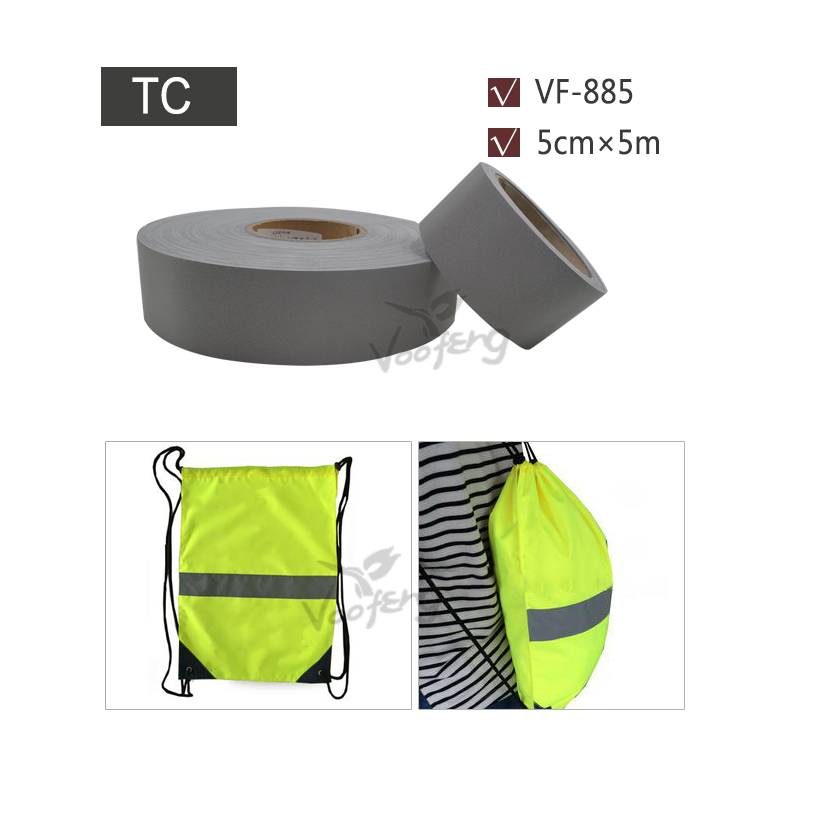 5cmx5m High Visibility Reflective Washable Fabric Suitable for Industrial clothing Free shipping