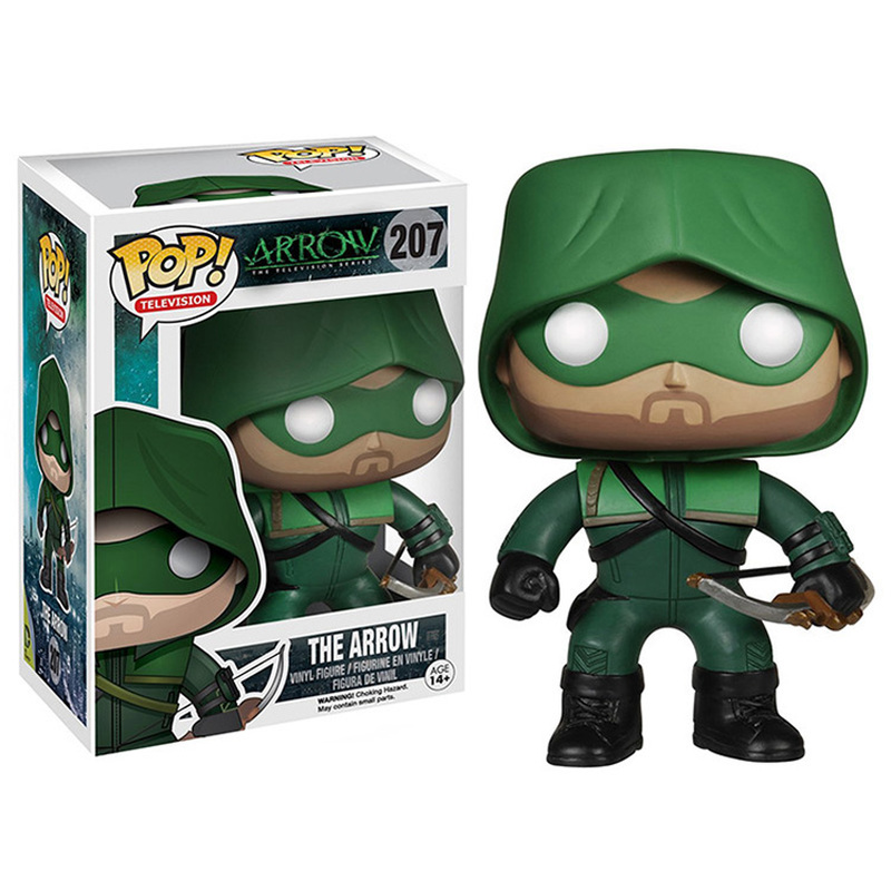 FUNKO POP Figures The Arrow DC Super Heroes Action Figures Vinyl Doll Collection Model Cartoon Figure Toys For Children With Box