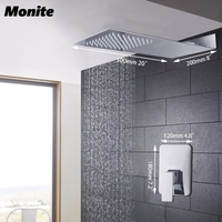Shower Head Luxury Wall Mounted Square Style Brass Waterfall Shower Set Factory Direct New Rainfall Bathroom