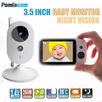 303A baby monitor 3.2 inch Wireless Video Color Baby Monitor nice Baby Nanny Security Camera Night Vision music