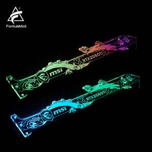 Image 4 - FormulaMod Fm QJD, RGB GPU Blocco Acrilico Staffe, Decorativo Piatti GPU Supporto, 5 v 3Pin RGB Synchronizable Scheda Madre di Illuminazione
