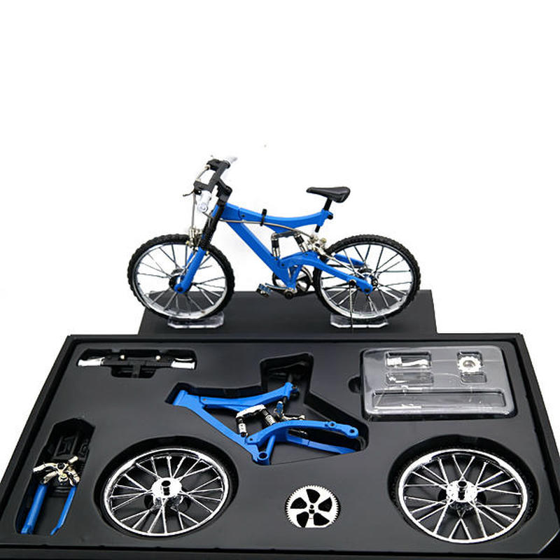 Bicycle Model Simulation DIY Alloy Mountain Road Bicycle Set Decoration Gift Model DIY Model Toy Teaching Model
