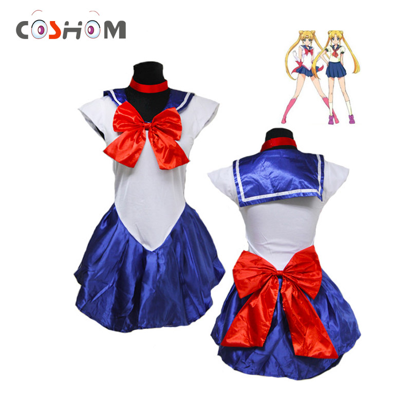 Coshome Sailor Moon Cosplay Suits Costumes Lolita Dress School Girls Uniforms Women Adult Skirts Performance Costumes