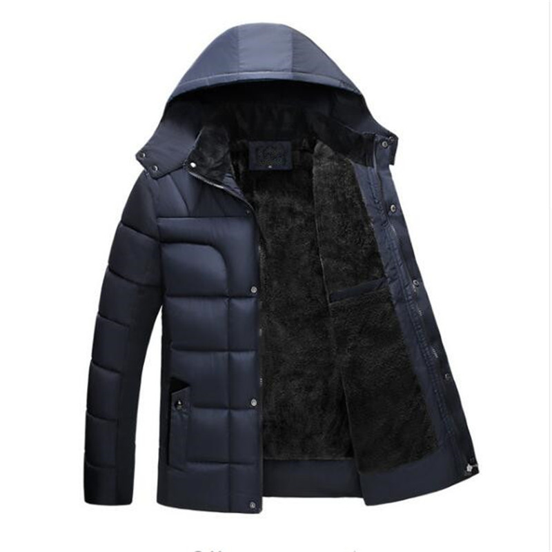 2017 New Arrival Winter Jacket Men Plus Size Thick Hooded Parkas Old Man Warm Coats Casual Padded Father Snow Wear Outwear free shipping winter parkas men jacket new 2017 thick warm loose brand original male plus size m 5xl coats 80hfx
