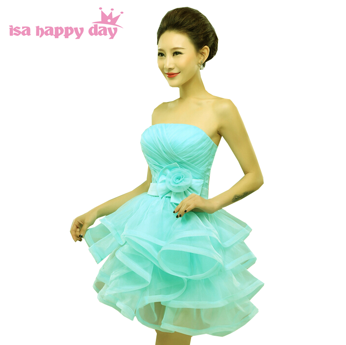 short formal sweet 16 puffy teens glitter strapless pageant party prom dresses light blue 2019 for