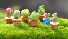 (A set: 7 pieces)Creative cute little cactus succulents mini fridge magnet