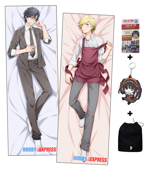 Hot Yaoi Anime Hitorijime My Hero two sided Pillow Case Cover 230