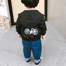 Black Wind Coat spring hooded boys clothing Dust casual girls jacket clothes 1-6T