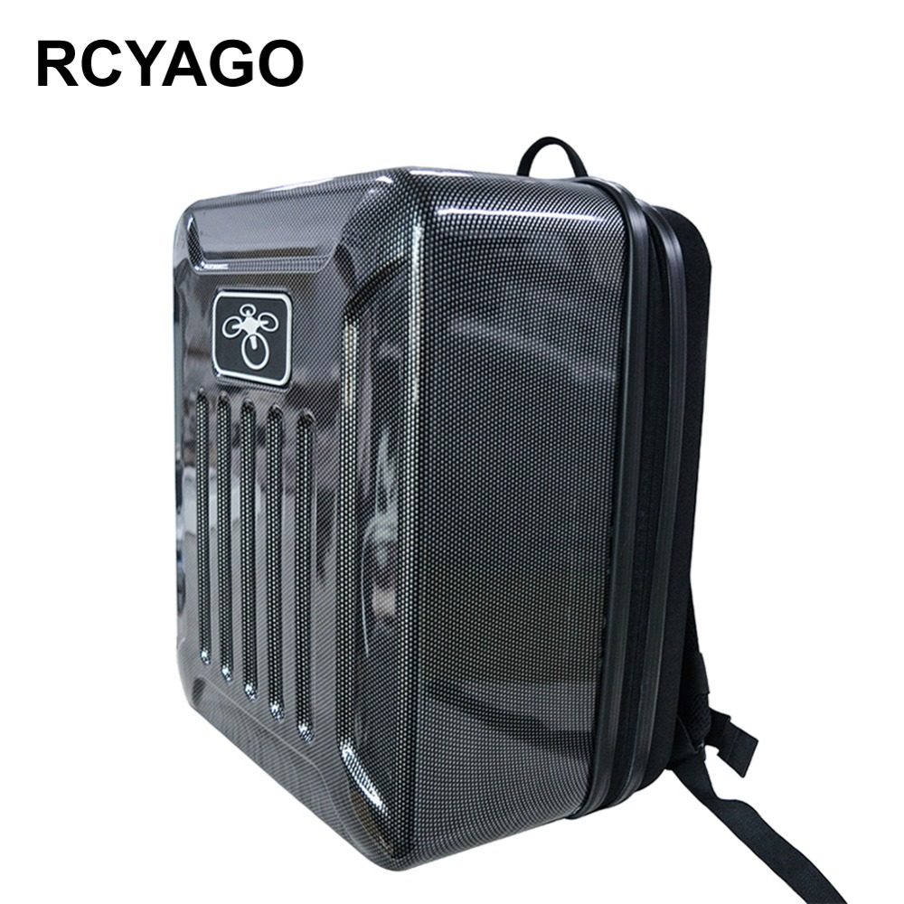 RCYAGO 2017 No Liner Carbon Fiber font b Drone b font Bag Hardshell Backpack For DJI