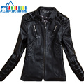 Spring 2014 Leather Coat Female Short Outerwear Coats Leather Fashion New Ladies Leather Jacket