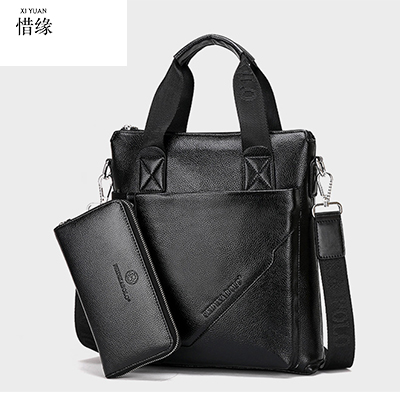 Cow Genuine Leather Messenger Bags Men Casual Travel Business Crossbody Shoulder Bag for Man Sacoche Homme Bolsa Masculina black