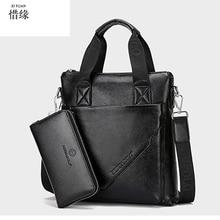 Cow Genuine Leather Messenger Bags Men Casual Travel Business Crossbody Shoulder Bag for Man Sacoche Homme Bolsa Masculina black