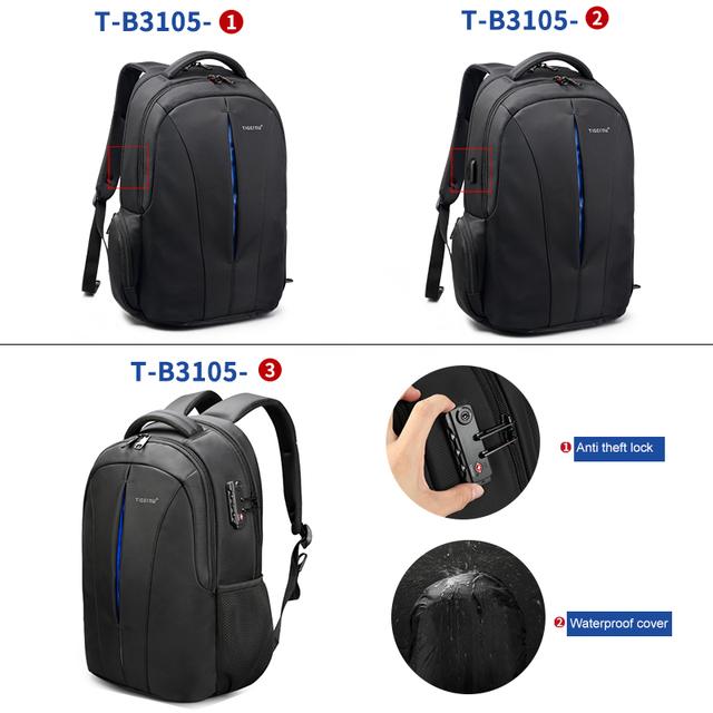 Tigernu Brand Waterproof 15.6inch Laptop Backpack NO Key TSA Anti Theft