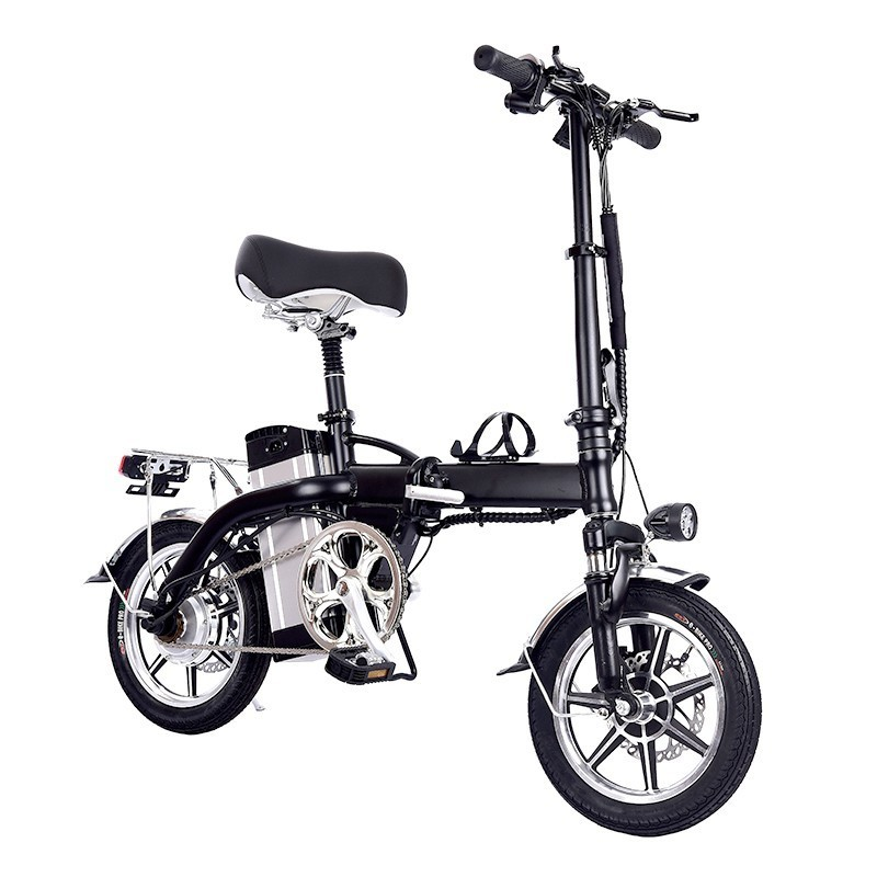Mini Bike Folding Electric Bike 14inch Wheel 350W Motor E Bike Electric Bicycle Scooter 48V 10AH Lithium Battery