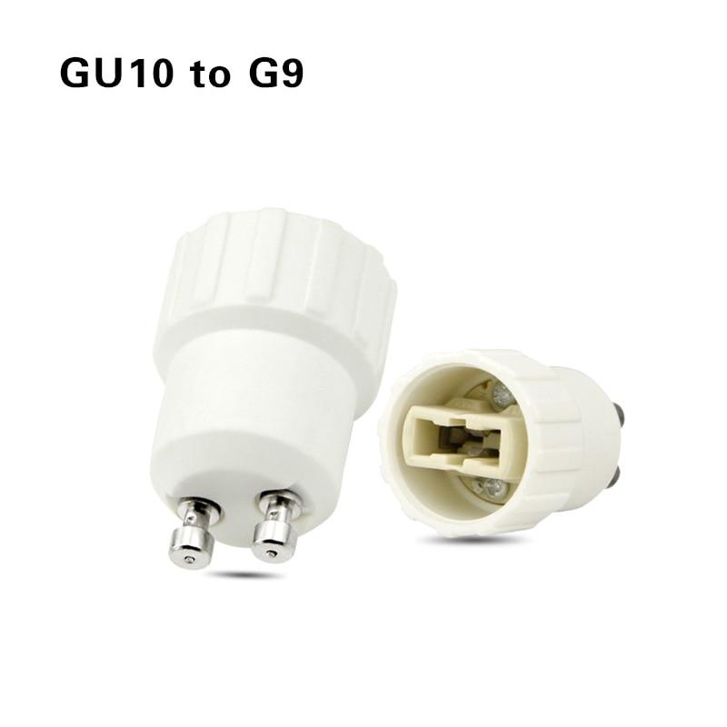 Led основание лампы конверсионный держатель конвертер гнездо адаптер GU10 G9 B22 E27 E14 E12 огнеупорный материал для дома светильник и lightitng - Цвет: GU10 to G9