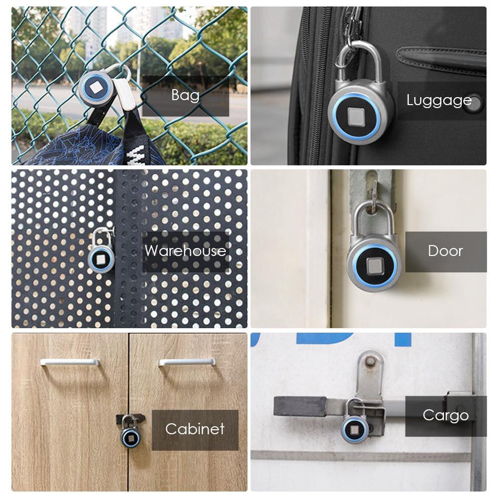 HTB1qrOdXvfsK1RjSszgq6yXzpXaJ BT Smart Keyless Fingerprint Lock Waterproof APP / Fingerprint Unlock Anti-Theft Security Padlock Door Luggage Case Lock