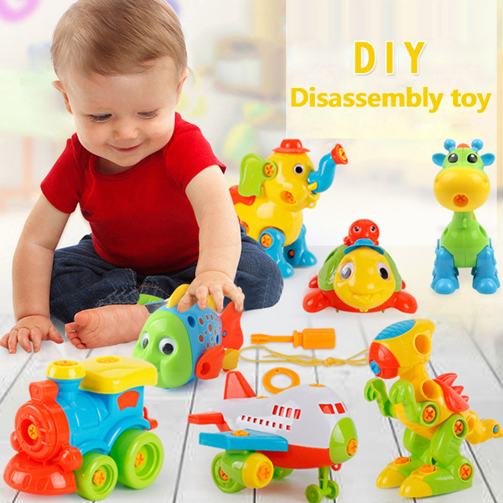 With Screw Kids//Baby 3D Puzzle Toys Disassembly Early Learning Education