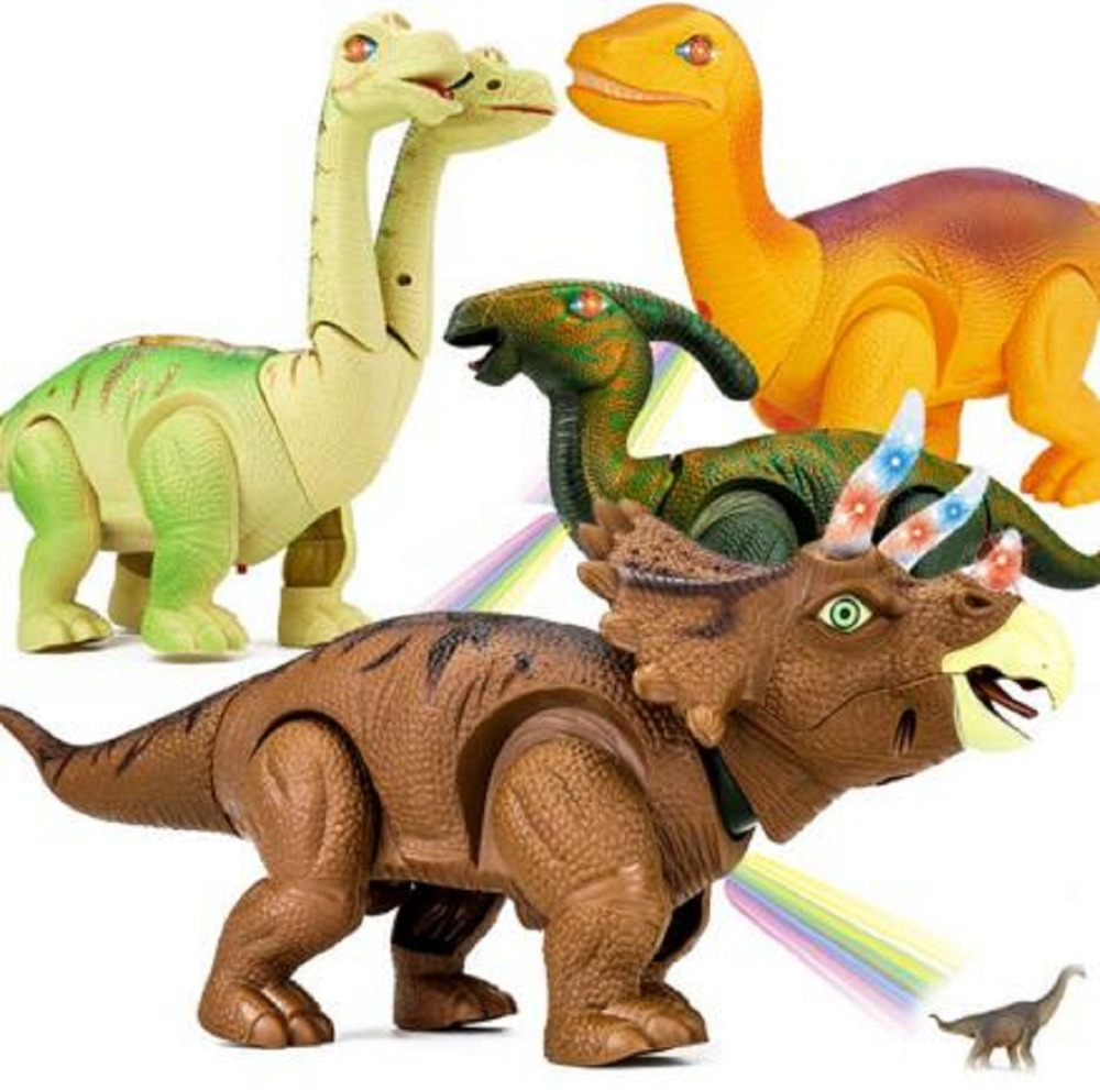 Electric Walking Dinosaur Toys Lay An Eggs Glowing Dinosaurs With Sound Animals Model Toy For Kids Children Interactive Toy Gift