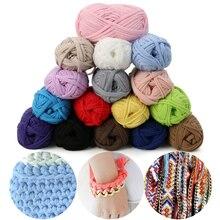 Yarn Cotton Carpets Basket-Blanket Crochet-Cloth Wool Knitting Colourful Thick 100g DIY
