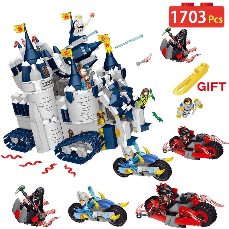 Mars & Dragon Castle Building Blocks Compatible LegoINGLYS Blocks Knight Motorcycle Stefan Character Activity Toys For Children цены