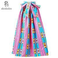 African Clothes For Women Dashiki Long Skirt New Fashion Clothing Ankara Print Skirt Plus Size