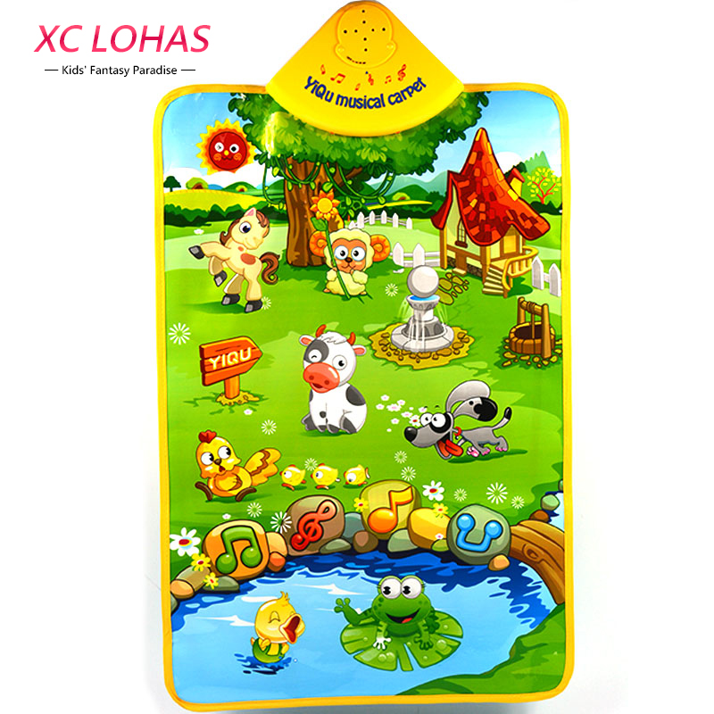 Happy <font><b>Farm</b></font> Sound Wall Chart Musical Baby <font><b>Carpet</b></font> Children Musical Toys Early <font><b>Learning</b></font> Educational Toys Children Christmas Gifts