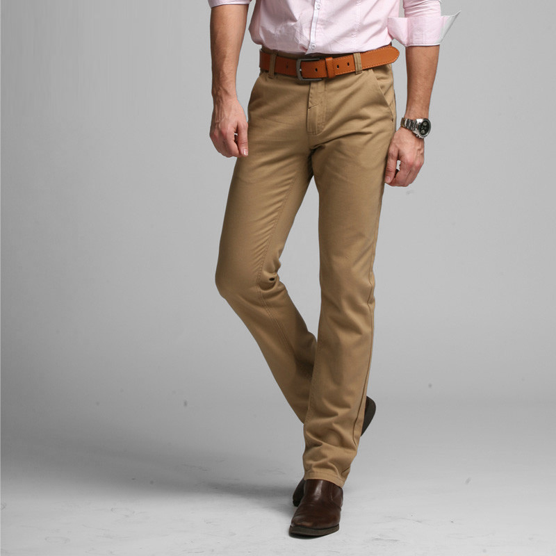 2019 Sıcak Marka Rahat Pantolon Erkekler Orta Tam Ince Düz Takım - Erkek Giyim - Fotoğraf 2