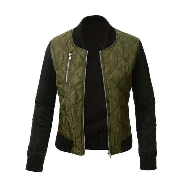 Jaqueta de Primavera inverno Mulheres Jaqueta Casaco Curto Fino Revestimento do Revestimento Veste Militaire Mulheres Jaquetas