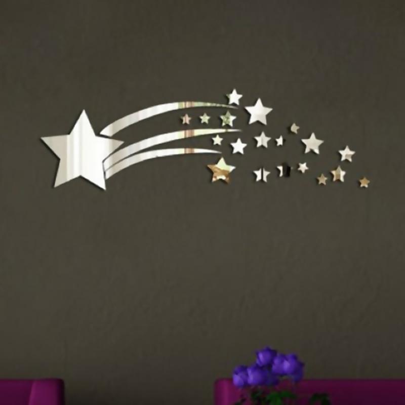 18x60 см Декоративные классический зеркало Наклейки Новые звезды метеорный поток Спальня lving @ LS