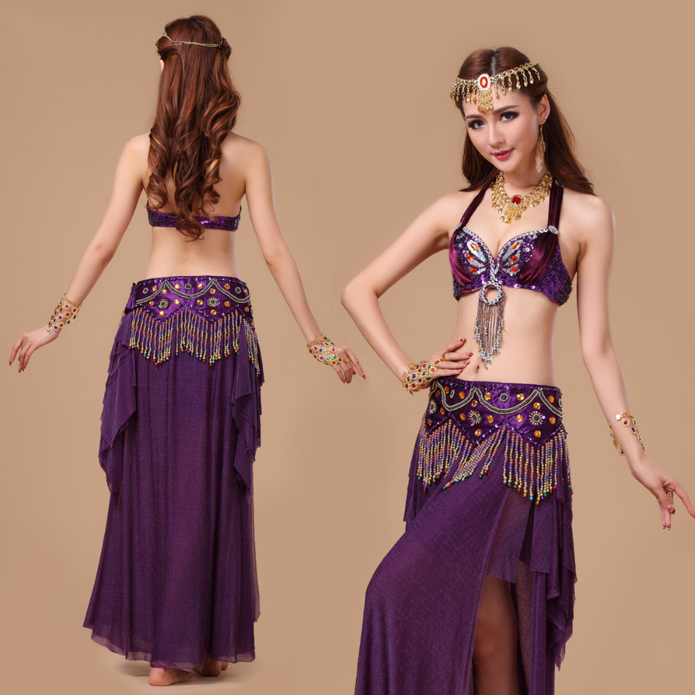 6567296ef New Womens belly dance set costume belly dancing clothes Bollywood ...