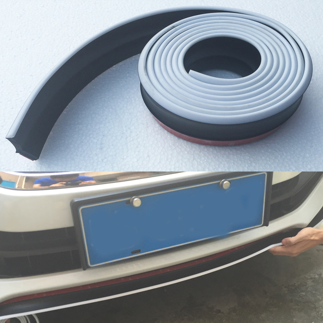 B8 A3 A4 A5 A6 A7 A8 TT Goma Car Styling Kit de carrocería Parachoques Delantero Labio Faldón Lateral para Audi Universal 250 CM