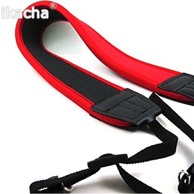 Vermelho Neoprene Ombro Correia de Pescoço para Câmera Canon EOS 300D 5D 7D 60D 400D 550D 1000D 1100D DSLR