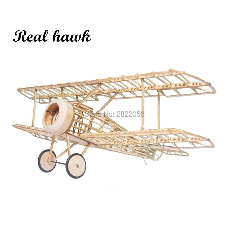 mini RC Plane Laser Cut Balsa Wood Airplane Kit Sopwith camel model Building Kit image